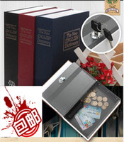 Wholesale Dictionary Style Safe Storage Box Secret Book Money Case Lock Up Valuables with Keys S x11 x5 CM