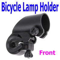 Wholesale Black Cycling Bike Bicycle Front light Clip Flashlight Holder Torch Bracket Free Drop Ship MYY3079