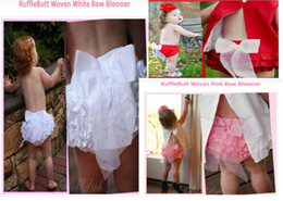 Wholesale Baby PP skirt Baby girl ruffle laced skirt with bowknot Infant dress Three color red pink amp wh