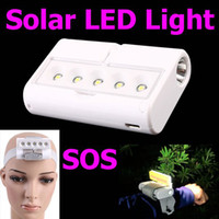 Wholesale Outdoor Mini Portable Rotatable Solar LED Light Emergency Camping Lamp Flashlight SOS with Retail Pa