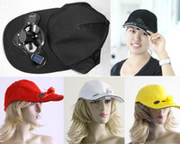 Wholesale Black Solar Power Hat Cap with Cooling Fan for Outdoor Golf Baseball