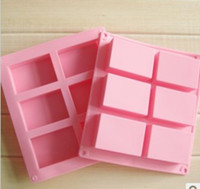 silicone soap molds - 6 cavities square hand made Silicone Soap mold Baking Mold Cake Pan Molds Handmade Biscuit mould