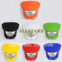 Wholesale Dirt bike Motorcycle Universal Headlight motorcycle headlamp Top Quality