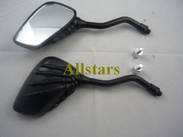 Wholesale Universal Motorcycle Skull mirrors Scooter Rearview mirrors Side mirrors MM MM