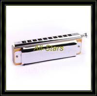 Wholesale Brand New Blues Harmonica Chromatic C Key w Holes Tone Guaranteed