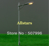 Wholesale Pack of V scale model train layout model lamppost white single bulb street light T27