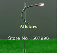 Wholesale Pack of V scale model train layout model lamppost white single bulb street light T29