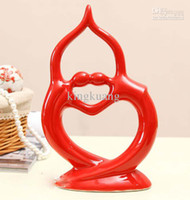 Wholesale Ceramic decorations home ornaments crafts home decor abstract couple body ornaments creative arts
