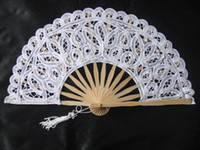 Bamboo crafts and gifts - Lace Fans Bridal Wedding Fans Handmade White Color Bamboo Fans Craft Fans Wedding Gifts and Souvenirs