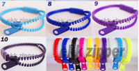 Wholesale DHL free New Zip bracelet wristband candy bracelet Popular Zipper bracelet colors