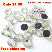 Wholesale 1440pcs ss10 DMC hotfix rhinestone Clear color ss iron on bling Crystal