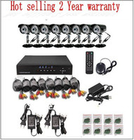 Cheap Free Shipping High Resolution 8CH Camera Kit for DIY CCTV Systems 600TVL CAMERA 20m Vedoi Cable