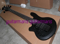 Wholesale New Left Hand Strings Bass Black Custom Electric Bass Guitar OEM