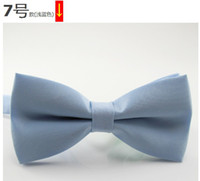 Wholesale Hot CAN CHOOSE Mixed styles Polyester plain bow ties bowtie