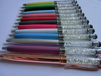 Wholesale Crystal stylus pen for iPhone5 G S4 Z10 S3 Ball touch pen for Capacitive screen HOT free DHL