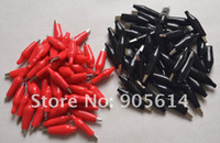Wholesale 100 corded Alligator leads test clips For Electrical Jumpers Wire Cable S