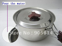 Wholesale Cookware Camping Hiking Backpacking Cooking Utensil Pot