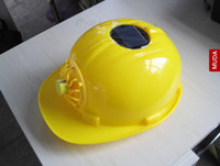 Wholesale Solar Fan Safety Helmet Hard Ventilate Motorcycle Hat Cap Cooling Cool New