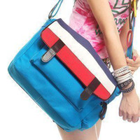Wholesale All match high quality cotton canvas bag cross body one shoulder women s handbag school bag