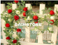 Wholesale 2013 High Simulation Artificial Flower Vine Rose M Color in Home amp Hotel Decor Fl115