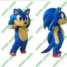 Wholesale Cat Mascot Costume Fancy Dress - 2013 Hot New Sonic the Hedgehog Halloween Mascot cat Costume Fancy Dress Hot Sale Free Shipping