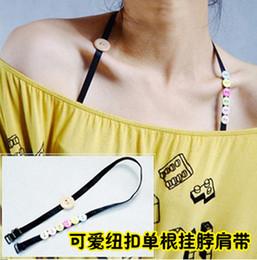 Wholesale Colorful Buttons Shoulder Strap Bra Tape Invisible Crystal Transparent Shoulder Bra Accessories