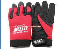 Wholesale BMX Cycling Bike Bicycle Full Long Finger Gloves RED