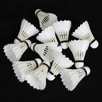 Wholesale 12Pcs set Training White Feather Badminton Shuttlecocks Drop Shipping