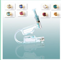 piercing needles - disposable ear piercing unit K Gold Plated studs Birthstone Bezel