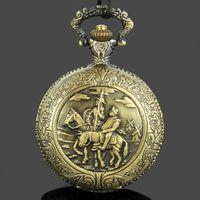 antique horse clocks - Vine Style Don Quixote Antique Ride Horse Clock Necklace Quartz Pocket Watch