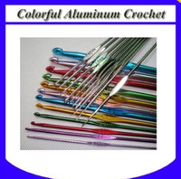 Wholesale 22pcs set Colorful Aluminium Crochet Hook New
