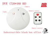 Wholesale mini hidden camera Remote control smoke detector alarm home security cameras recorder