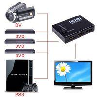 Wholesale NEW P Video Mini Port HDMI Switch HDMI Switcher HDMI Splitter with IR Remote splitter box