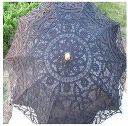 Wholesale Fashion Black Lace Wedding Bridal Umbrella UV Filter