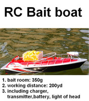 rc bait boat - RC Fishing Bait Boat working distance m hours Red Car charger