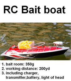 Wholesale RC Fishing Bait Boat working distance m hours Red Car charger