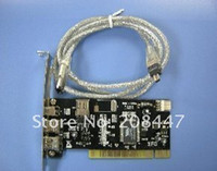 Wholesale FreeShipping Ports Firewire IEEE Pin PCI Card for DV DC