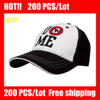 Wholesale VIP HOT COOL Black White John Cena Black Baseball Cap caps Black Baseball hat hats NEW John Cena Black Baseball Cap caps