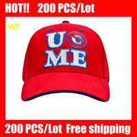 Wholesale VIP HOT COOL Nice Red John Cena Red Baseball Cap caps Red NEW Baseball hat hats and