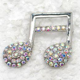 Wholesale Crystal Rhinestone Music Note Brooches Fashion Costume Pin Brooch Fashion jewelry gift C498