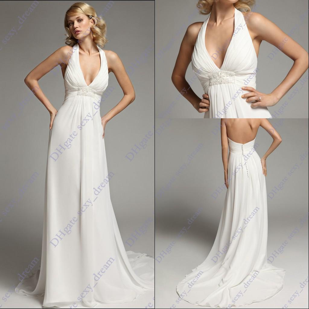 inexpensive halter wedding dresses
