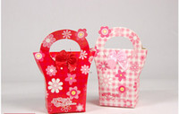 Wholesale New Flower Basket Favor Candy Boxes Wedding Party Package Gift Boxes Bowknot