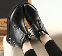 Wholesale Boots Ankle High Snow Boots with Rivet at Back Cool Punk Girls Shoes Studded Heels With Spikes Rivet