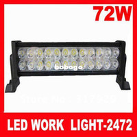Wholesale 72W Aluminum Led Work Light Bars K Waterproof IP67 months Warranty Cheap Price Black