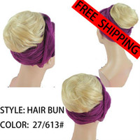 Wholesale retailing hair bun medium BLONDE MIX hair accessory bride hair apparel