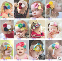 Headbands Lace Floral 2013 New Hot Sell Cute Girls Flowers Elastic Hair Clips Children Hair Accessories 4851