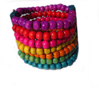 Women's Fashion Bracelets Min.Order is $10(Can Mix) wooden beads bracelets charm bangles colorful jewelry hot sale 2012 new!fr