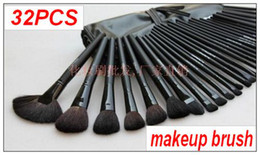 Wholesale On Sale set Professional Black Makeup Make Up Cosmetic Brushes Set Kit Tool Roll Up Case