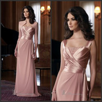 Wholesale 2013 Square Beaded Chiffon Wedding Evening Gown Mother Of The Bride Dresses With Long Sleeve Jacket