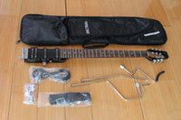 Wholesale Ministar Brand CastarII Travel Electric Guitar in Black Color